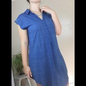 [Cloth & Stone] Sleeveless Blue Button Down Dress